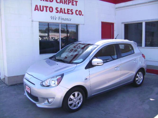 2015 Silver /Charcoal Mitsubishi Mirage DE (ML32A4HJ1FH) with an 1.2L L3 DOHC engine, Automatic transmission, located at 503 West Court, Seguin, TX, 78155, (830) 379-3373, 29.568621, -97.969803 - Photo #0